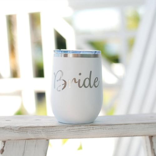 Bride Stainless Steel Tumbler with Lid  Home & Garden > Kitchen & Dining > Tableware > Drinkware > Tumblers