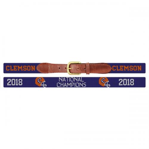 Clemson 2018 National Championship Needlepoint Belt  Apparel & Accessories > Clothing Accessories > Belts