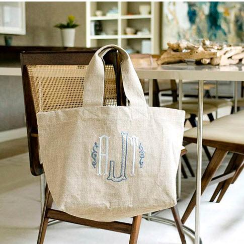 Monogrammed Clinton Classic Market Tote  Luggage & Bags > Toiletry Bags