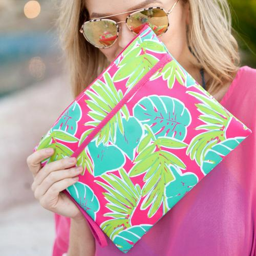 Personalized Totally Tropics Zip Pouch Wristlet  Luggage & Bags > Luggage Accessories > Travel Pouches