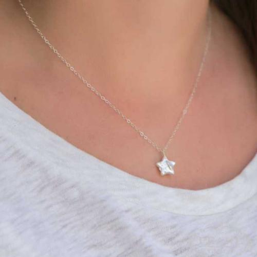 Pearl Single Star Necklace  Apparel & Accessories > Jewelry > Necklaces