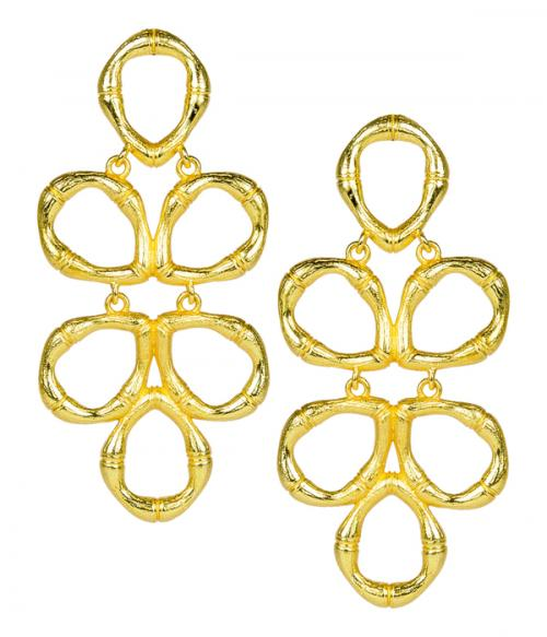 Lisi Lerch Gold Bamboo Ginger Earrings  Apparel & Accessories > Jewelry > Earrings