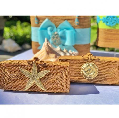 Lisi Lerch Colette Clutch Gold Adornments  Apparel & Accessories > Handbags > Clutches & Special Occasion Bags