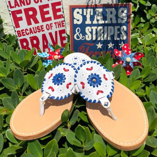 Palm Beach Ocean Avenue Firework Blue Sandals  Apparel & Accessories > Shoes > Sandals > Thongs & Flip-Flops