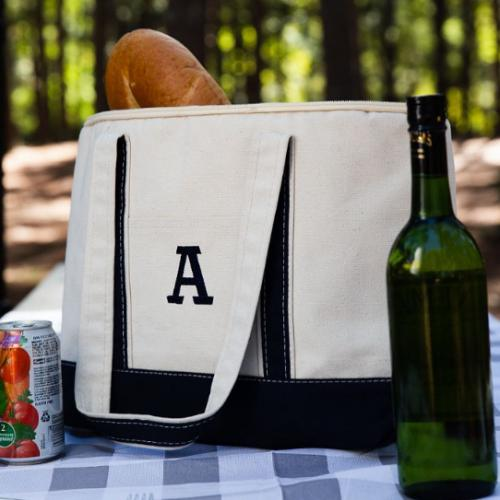 Monogrammed Large Lunch Tote Cooler  Home & Garden > Kitchen & Dining > Food & Beverage Carriers > Lunch Boxes & Totes