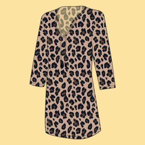 Monogrammed Leopard Wild Side Womens Tunic Size XXL  Apparel & Accessories > Clothing > Swimwear > Cover-Ups