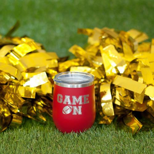Game On Game Day Stainless Steel Tumblers  Home & Garden > Kitchen & Dining > Tableware > Drinkware > Tumblers