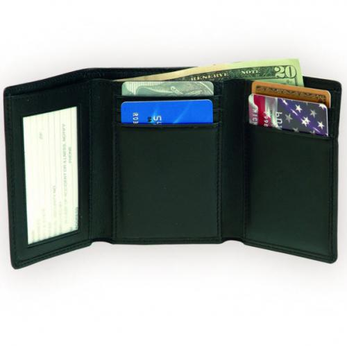 Men's Leather Double ID Bifold Wallet  Apparel & Accessories > Clothing Accessories > Wallets & Money Clips