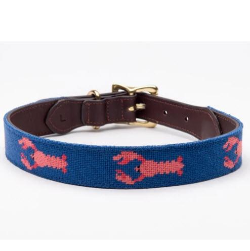 Lobster Needlepoint Dog Collar Lobster Needlepoint Dog Collar Animals & Pet Supplies > Pet Supplies > Cat Supplies > Cat Collars & Harnesses