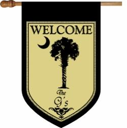 Personalized Palmetto Tree House Flag Personalized Palmetto Flag Home & Garden > Decor > Flags & Windsocks