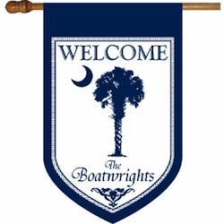 Blue Palmetto Personalized Flag Welcome Palmetto Blue Flag Home & Garden > Decor > Flags & Windsocks