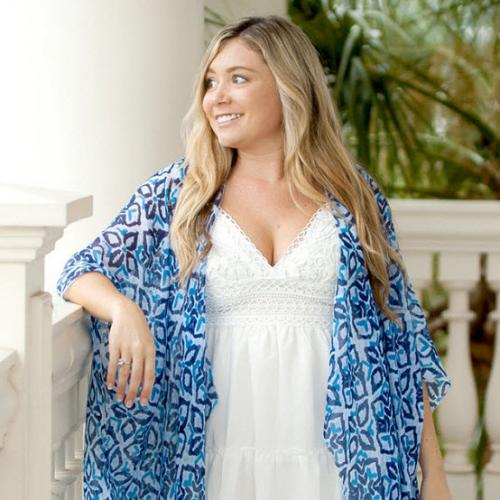 Sea Glass Blue Eden Kimono Sea Glass Blue Eden Kimono Apparel & Accessories > Clothing Accessories > Scarves & Shawls