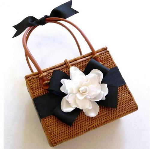 Lisi Lerch Emory Gardenia Basket  Apparel & Accessories > Handbags > Clutches & Special Occasion Bags