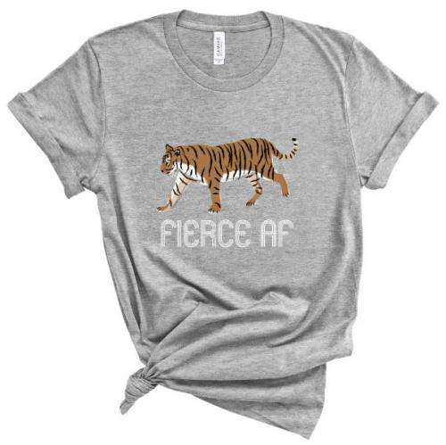 Clairebella Fierce T Shirt Grey  Apparel & Accessories > Clothing > Shirts & Tops > T-Shirts