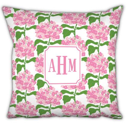Boatman Geller Monogrammed Sconset Pink Pillow  Home & Garden > Decor > Throw Pillows