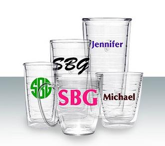 Tervis Tumblers In Sets of Four  monogram Home & Garden > Kitchen & Dining > Tableware > Drinkware > Tumblers