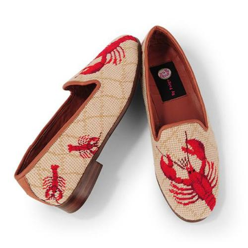 By Paige Ladies Red Lobster Needlepoint Loafers    Apparel & Accessories > Shoes > Loafers