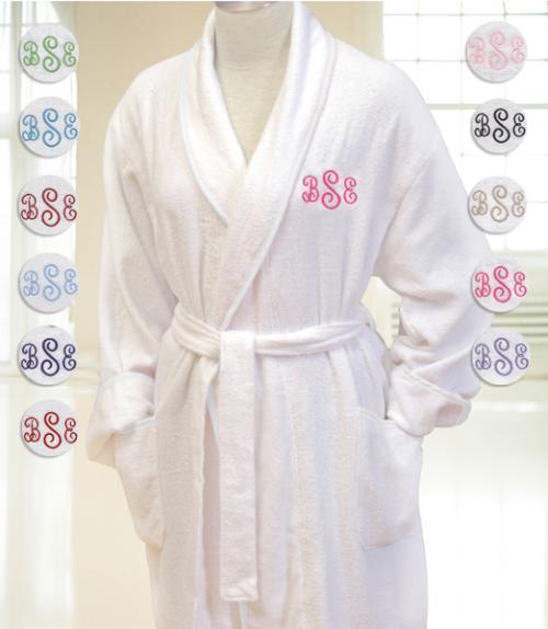 Aegean Ladybug White Terry Cloth Robe | Women's Terry Robe | Terry