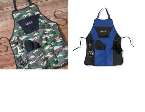 Personalized Grillmaster Apron Plus Blue or Camo  Apparel & Accessories > Clothing Accessories > Aprons