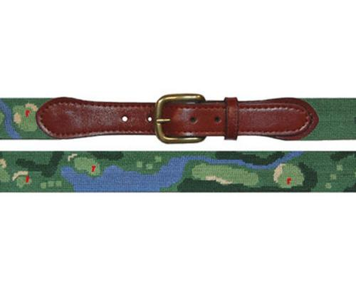 Smathers and Branson Front Nine Needlepoint Belt - Monogram Option  Apparel & Accessories > Clothing Accessories > Belts