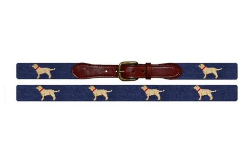 Smathers and Branson Yellow Lab Needlepoint Belt   Apparel & Accessories > Clothing Accessories > Belts