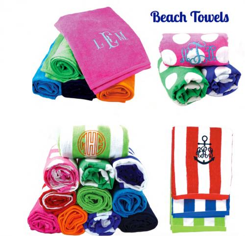 Monogrammed Beach Towel Makes A Great Graduation Gift