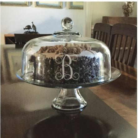 Monogrammed Presence Cake Set  Home & Garden > Kitchen & Dining > Tableware > Serveware > Cake Stands