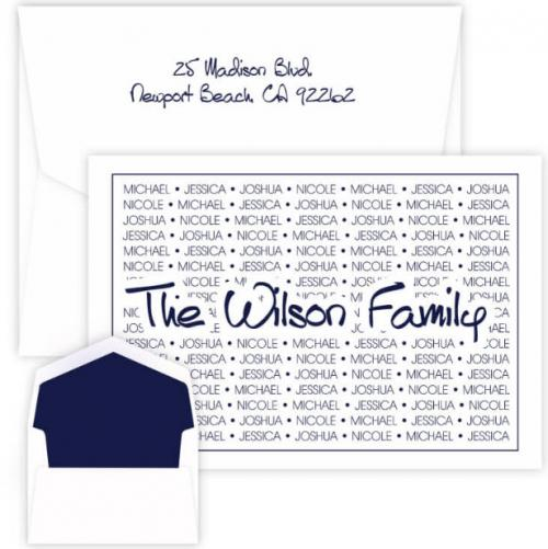 Embossed Graphics Personalized Anthony Family Pride Oversized Raised Ink Foldover Note  Office Supplies > General Supplies > Paper Products > Stationery