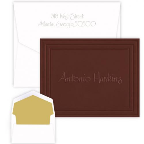 Personalized California Framed Embossed Foldover Note with Name  Office Supplies > General Supplies > Paper Products > Stationery
