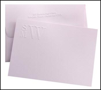 Eloquent image with embossed stationery