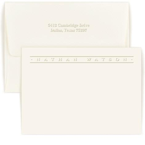 Personalized Embossed Banner Card   Office Supplies > General Supplies > Paper Products > Stationery