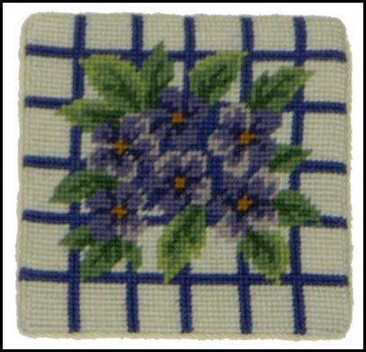 Set of Four Hydrangea Needlepoint Coasters hydrangea coasters Home & Garden > Kitchen & Dining > Tableware > Trivets