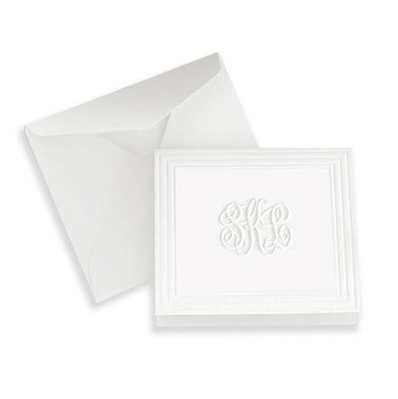 Henley Framed Monogram Embossed Portrait Enclosure  Office Supplies > General Supplies > Paper Products > Stationery