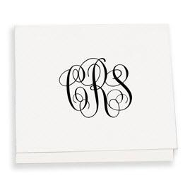 Henley Monogram Portrait Raised Ink Enclosure  Office Supplies > General Supplies > Paper Products > Stationery