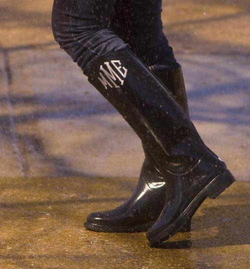 womens monogrammed rainboots  as seen in southern livi