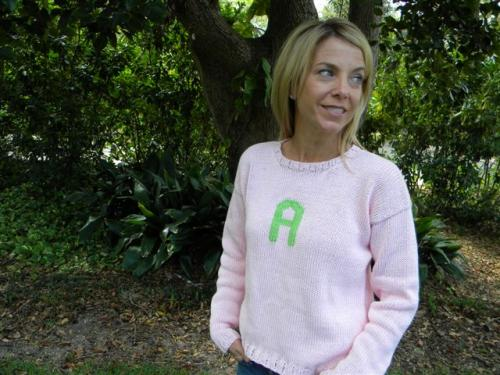 Monogrammed Sweaters for Adults!  Here at last!