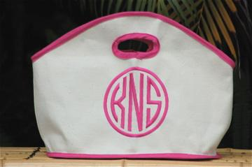 Perfect GG Tote done in natural duck canvas trimmed in hot pink. Three great sizes.  Apparel & Accessories > Handbags > Tote Handbags