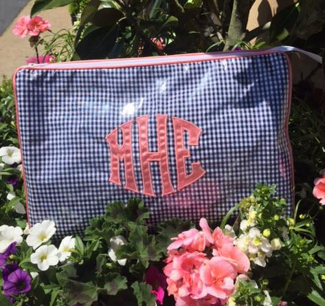 Monogrammed Medium Cosmetic Case By Talley Ho Designs  Luggage & Bags > Toiletry Bags