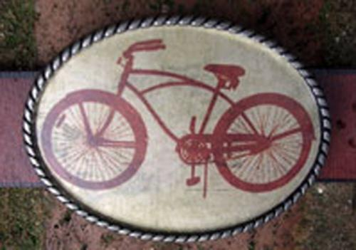 Loopty Loo Bicycle Belt Buckle  Apparel & Accessories > Clothing Accessories > Belt Buckles