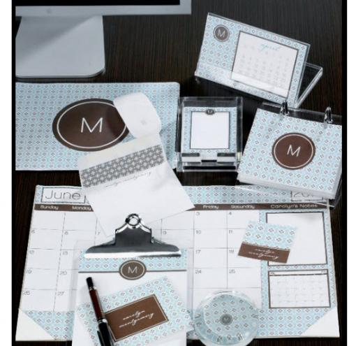 dress your desk with monogrammed accessories