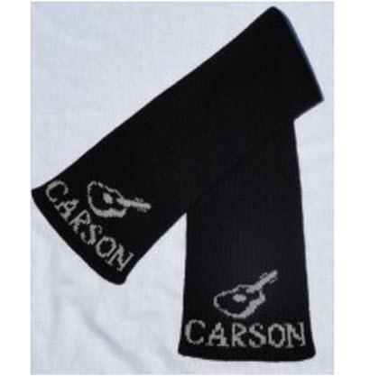 Personalized Kid's Knit Guitar Scarf  Apparel & Accessories > Clothing Accessories > Scarves & Shawls