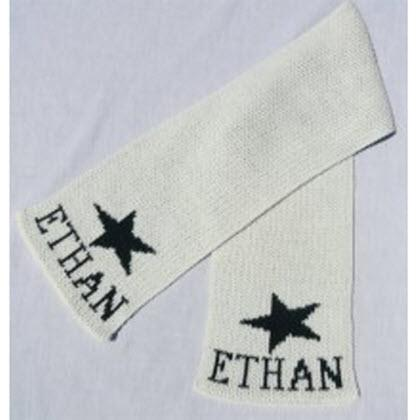 Personalized Kids's Knit Star Scarf  Apparel & Accessories > Clothing Accessories > Scarves & Shawls