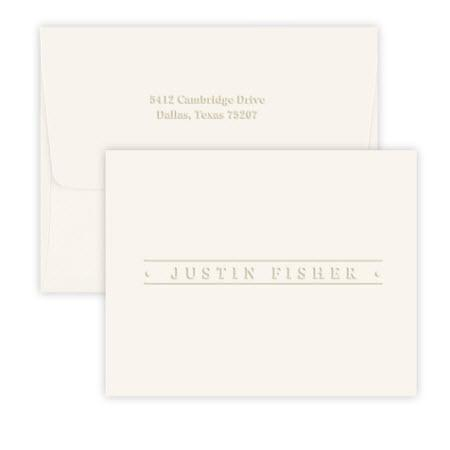 Embossed Graphics Personalized Banner Embossed Foldover Note  NULL