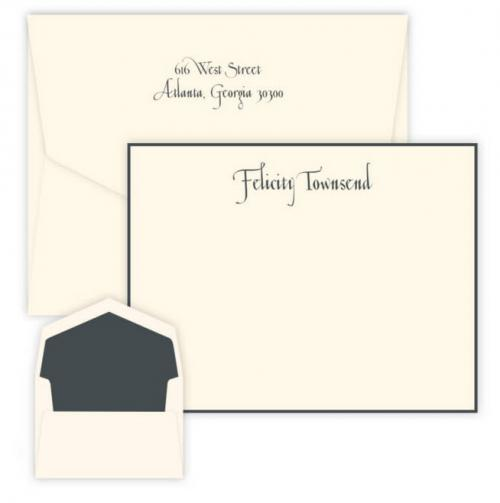 Personalized Embossed Casual Card with Raised Ink  Office Supplies > General Supplies > Paper Products > Stationery