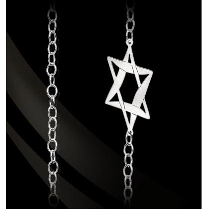 "Star of David 36"" Convertible Chain Star of David 36"" Convertible Chain Apparel & Accessories > Jewelry > Necklaces"