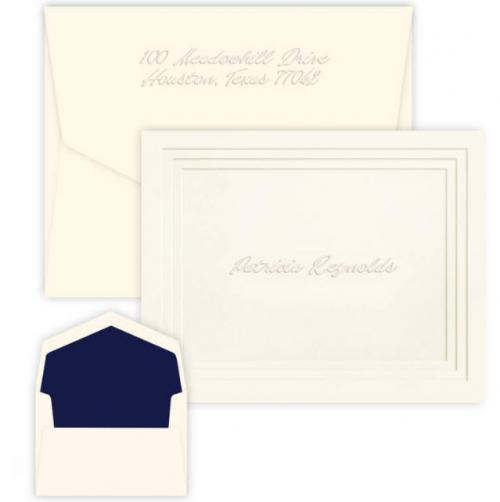 Personalized Plateau Embossed Foldover Note  Office Supplies > General Supplies > Paper Products > Stationery