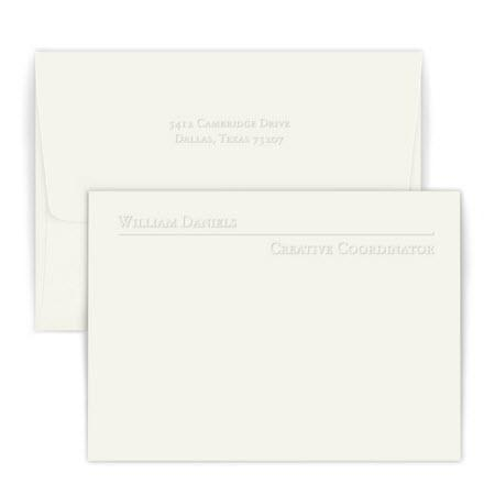Personalized Avenue Embossed Correspondence Card  Office Supplies > General Supplies > Paper Products > Stationery