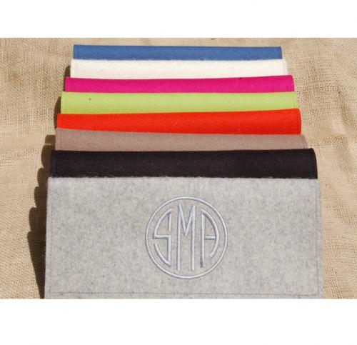 Monogrammed Felt Clutch Bag  Apparel & Accessories > Handbags > Clutches & Special Occasion Bags
