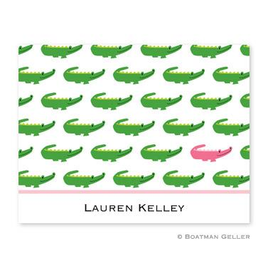 Boatman Geller Personalized Alligator Notes  Office Supplies > General Supplies > Paper Products > Stationery