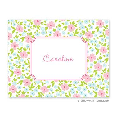 Boatman Geller Personalized Floral Foldover Note  Office Supplies > General Supplies > Paper Products > Stationery